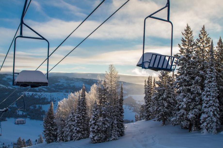 Beautiful photo of beaver mountain chairlifts