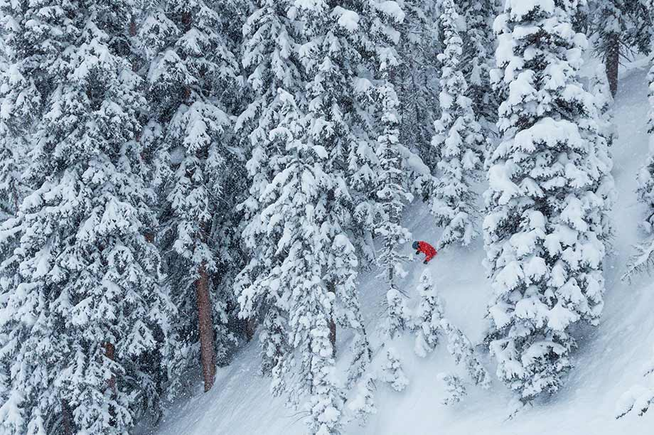Shooting the trees at Solitude Mountain Resort
