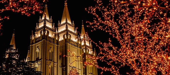 Salt Lake temple square christmas lights