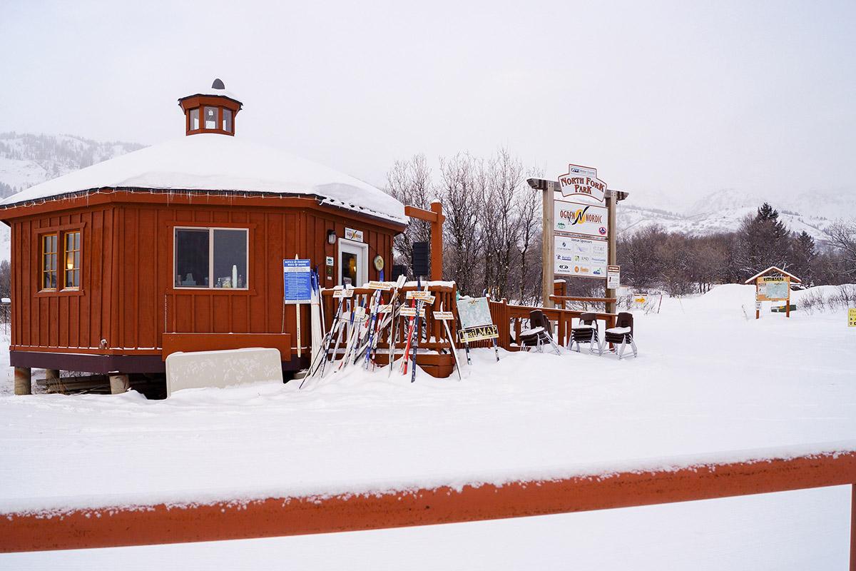 cross country skiing winter wonderland