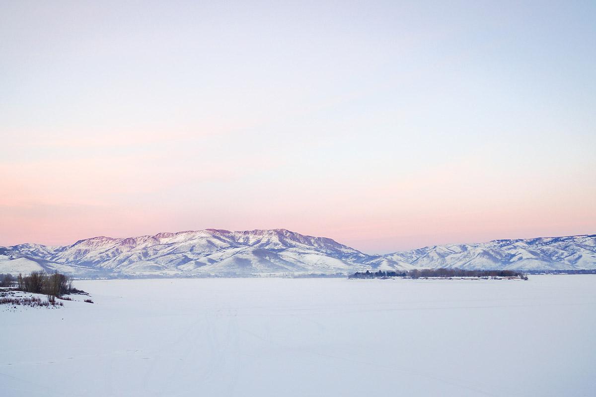 pineview reservoir winter wonderland