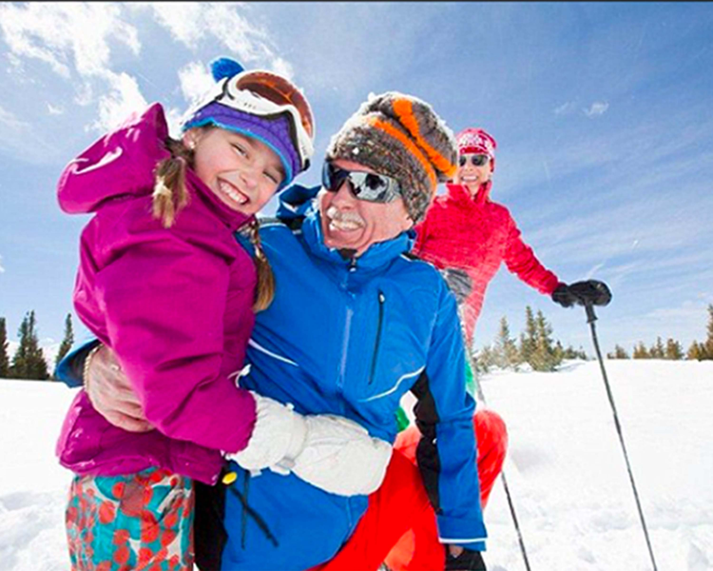 grandparents ski free