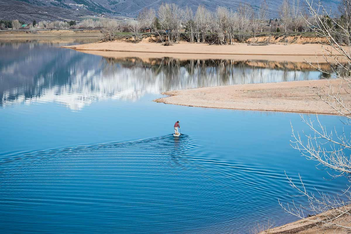 Pineview Paddleboarding water