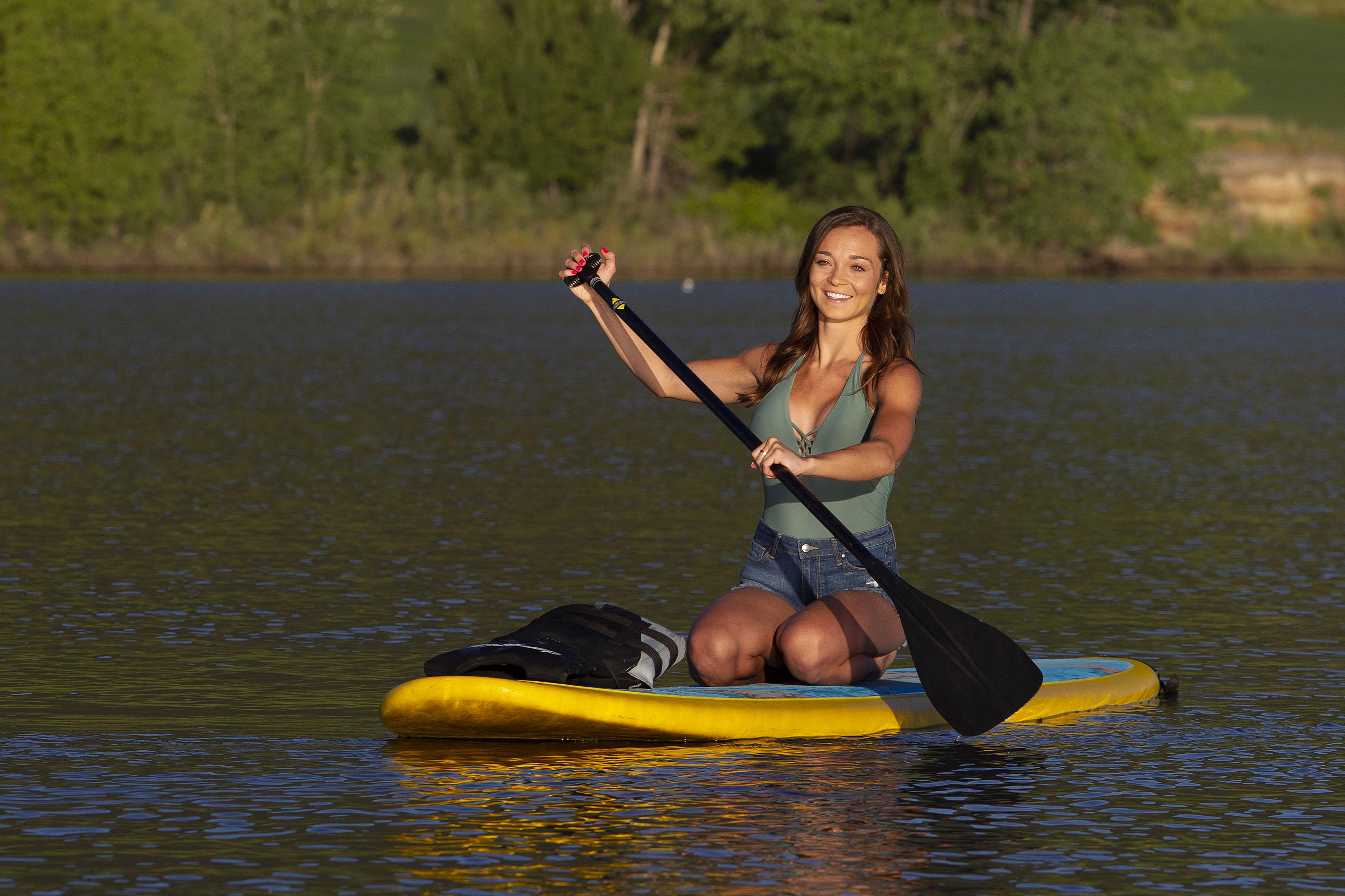 happy utah paddle boarding