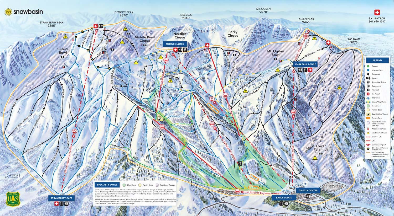 Snowbasin 2019 Winter Trail Map