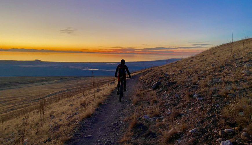 Mountain Biking at Antelope Island